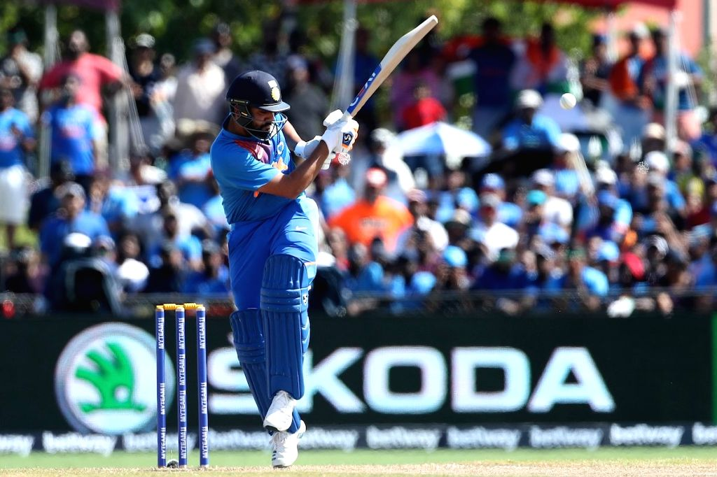 Lauderhill: India's Rohit Sharma in action the second T20 international between India and West Indies at the Central Broward Regional Park Stadium in Lauderhill, Florida on Aug 4, 2019. (Photo: Twitter/@BCCI) - Rohit Sharma
