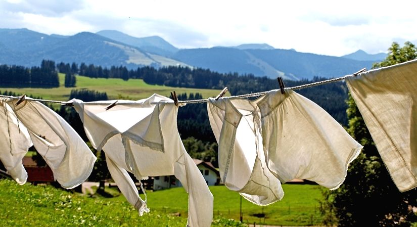 Laundry in times of COVID-19.