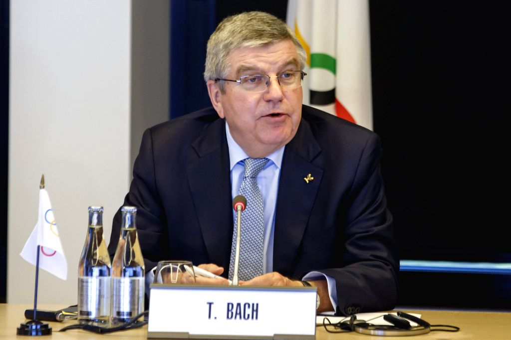 LAUSANNE, Feb. 16, 2019 - International Olympic Committee (IOC) president Thomas Bach speaks during a tripartite meeting at the headquarters of the International Olympic Committee (IOC) in Lausanne, ...