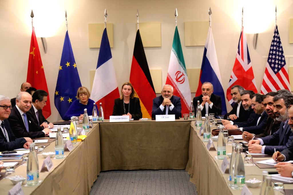 Diplomats meet on Iran's nuclear deal in Lausanne, Switzerland, on March 30, 2015. Foreign ministers from major world powers on Sunday night kicked off a plenary ...