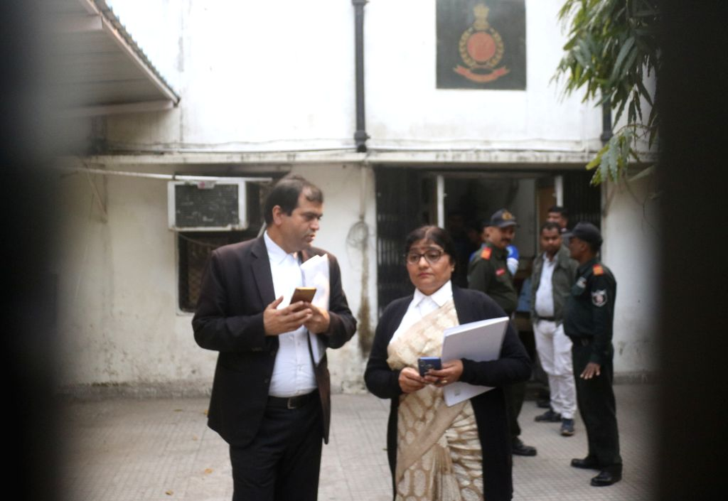 Lawyers of businessman Robert Vadra at Enforcement Directorate office in New Delhi on Feb 6, 201.