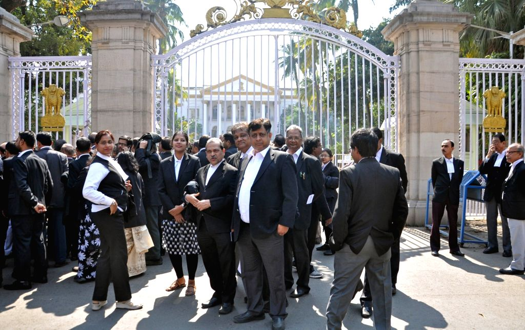 Lawyers participate in a march to press for their various demands in Kolkata, on  Feb 12, 2019.