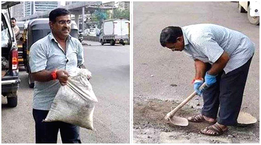 Laxman pays tribute to father filling potholes since losing son.