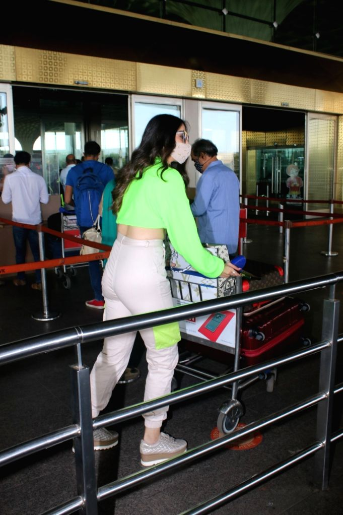 Laxmi Rai Spotted at Airport Departure On Saturday, 24 April, 2021. - Laxmi Rai Spotted