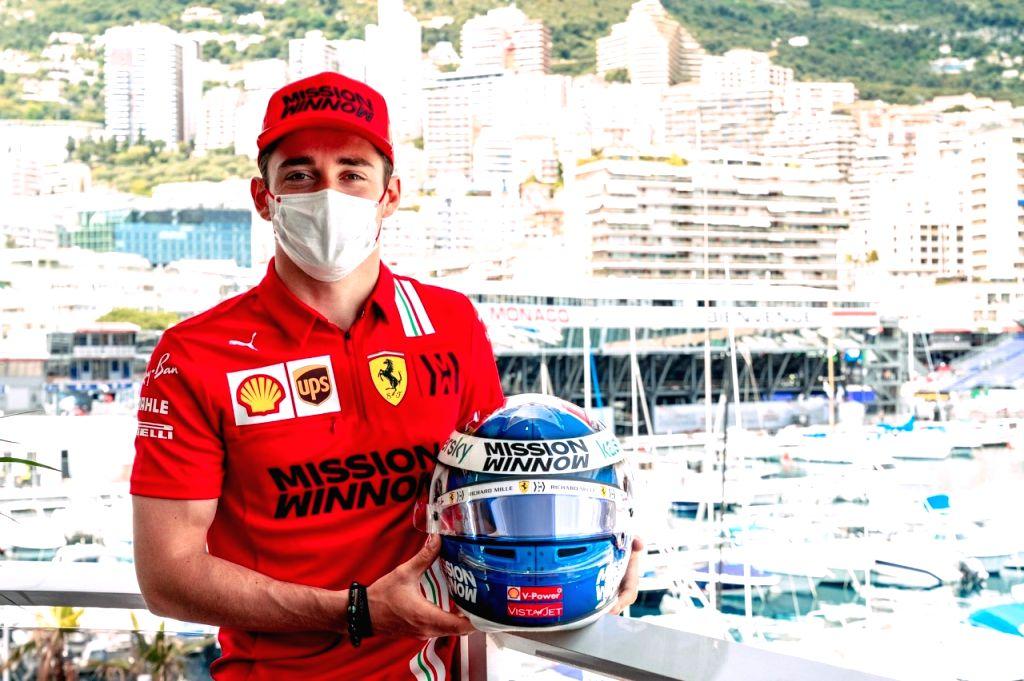 Leclerc crashes but secures pole position in Monaco