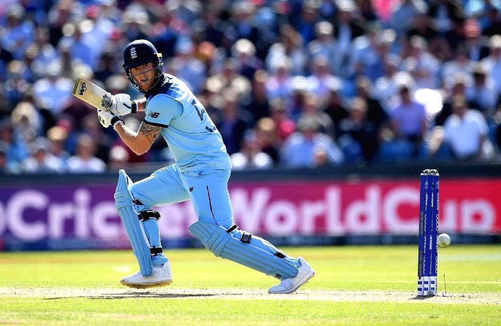 Leeds: England's Ben Stokes in action during the 27th match of 2019 World Cup between Sri Lanka and England at Headingley Cricket Ground in Leeds, England on June 21, 2019. (Photo Credit: Twitter/@ICC)