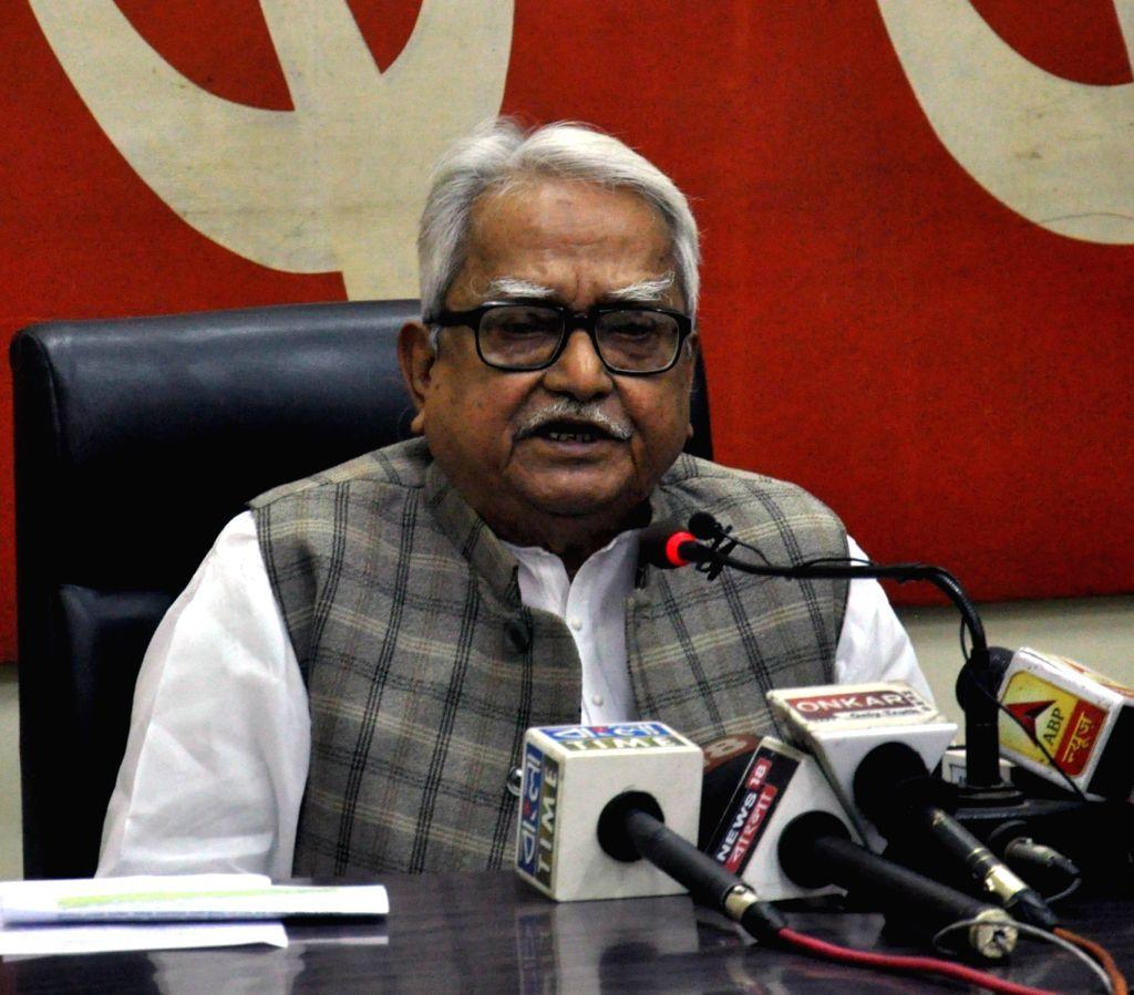 Left Front Chairman Biman Bose. (Photo: IANS) - Biman Bose