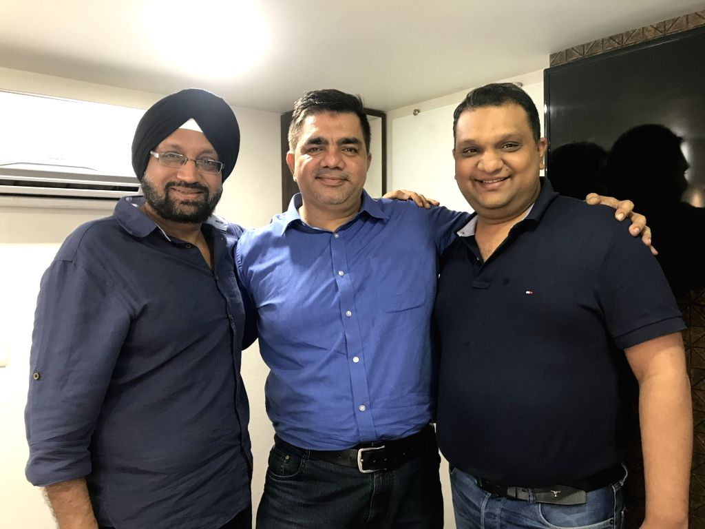 (Left to Right) - Jaspinder Kang, Partner, GoQuest Productions, writer Hussain Zaidi and Vivek Lath, MD, GoQuest Media Ventures.