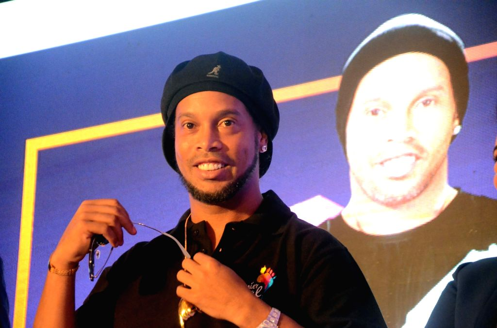 Legendary Brazilian football player Ronaldinho. (File Photo: IANS
