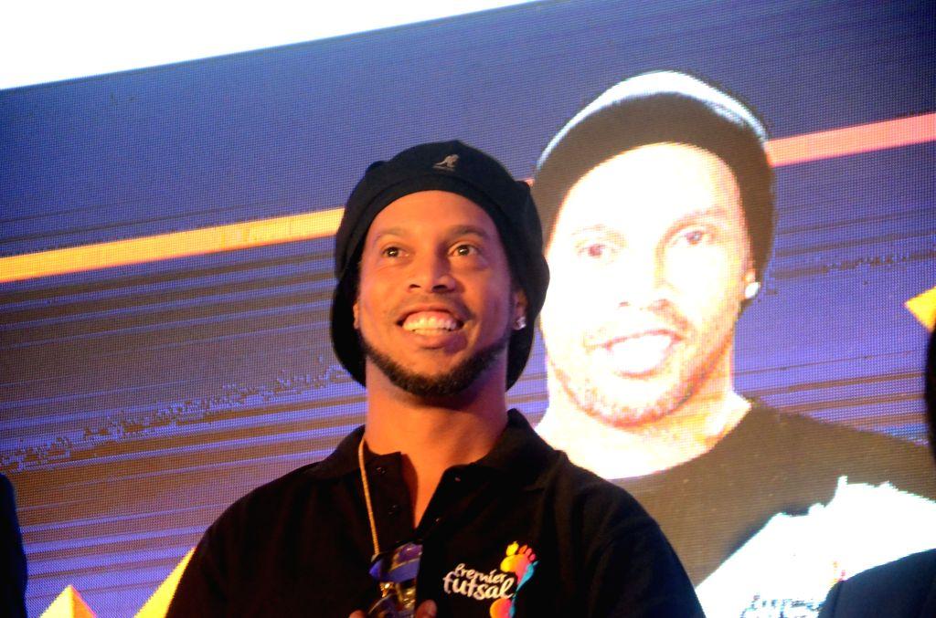 Legendary Brazilian football player Ronaldinho. (File Photo: IANS