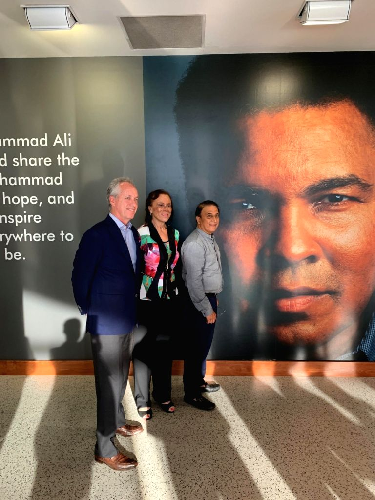 Legendary Indian cricketer Sunil Gavaskar on his visit to Muhammad Ali's hometown in Kentucky met with Lonnie Ali, wife of the boxing great and Louisville Mayor Greg Fischer to discuss opening up of ...