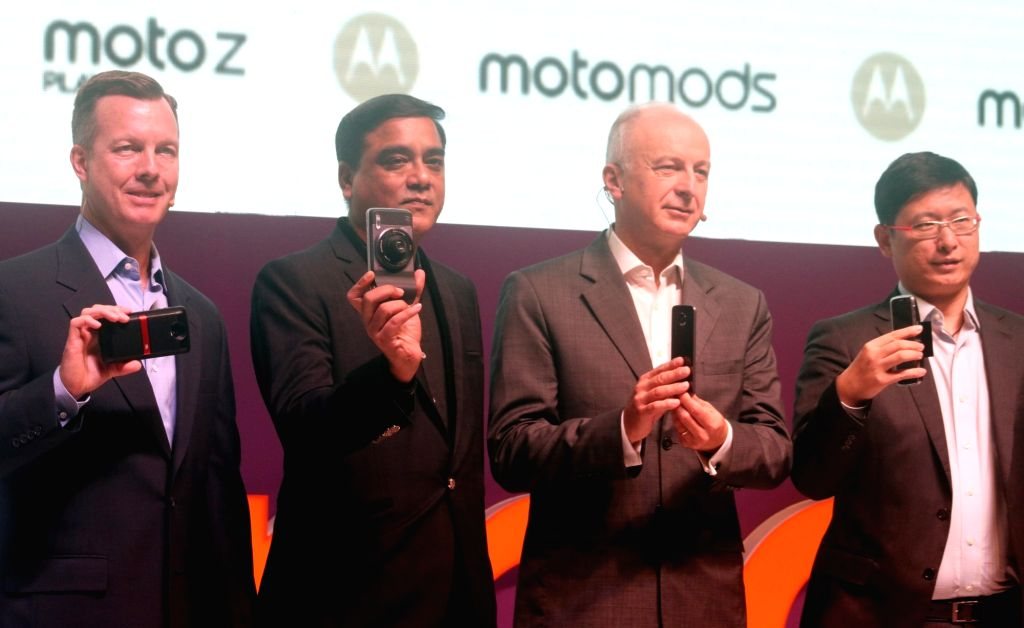 Lenovo Head of Global Product Marketing and Mobile Business Group Jim Thiede, Mobile Business Group India Executive Director Sudhin Mathur, Mobile Business Group SVP and Co-President ...