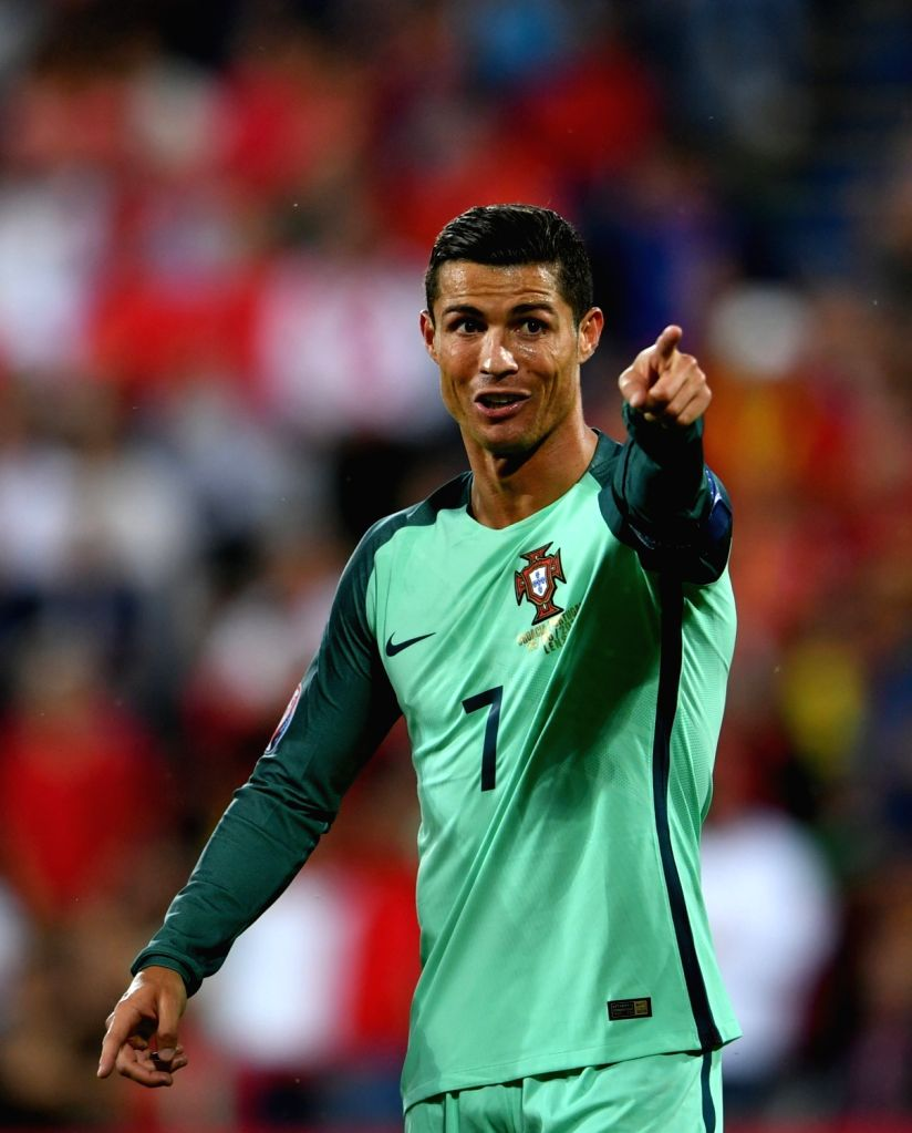 LENS, June 26, 2016 - Cristiano Ronaldo of Portugal reacts during the Euro 2016 round of 16 soccer match between Portugal and Croatia in Lens, France, on June 25, 2016.