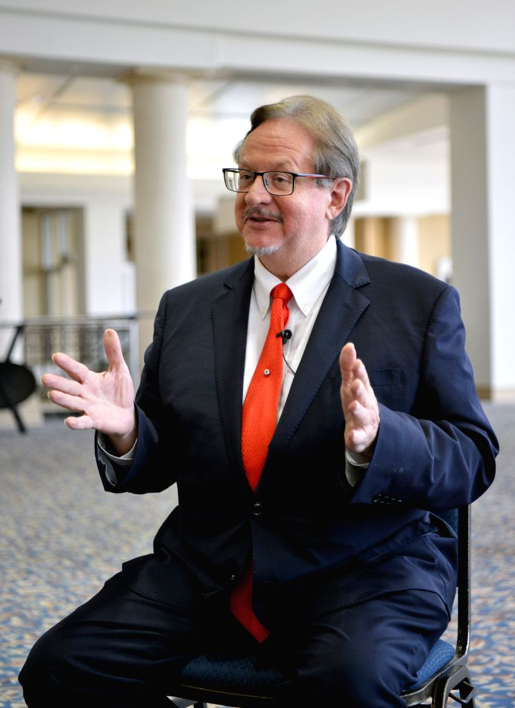 LEXINGTON (U.S.), May 24, 2019 Michael North, Chairman of Galaxy Trade and Technology Company, is interviewed by Xinhua following the fifth China-U.S. Governors Forum in Lexington, ...