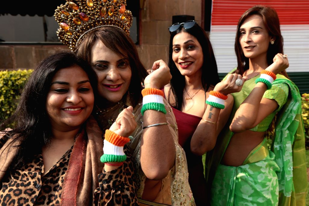 LGBT supporters during a programme organised to celebrate Republic Day at a Delhi hotel on Jan 25, 2019.