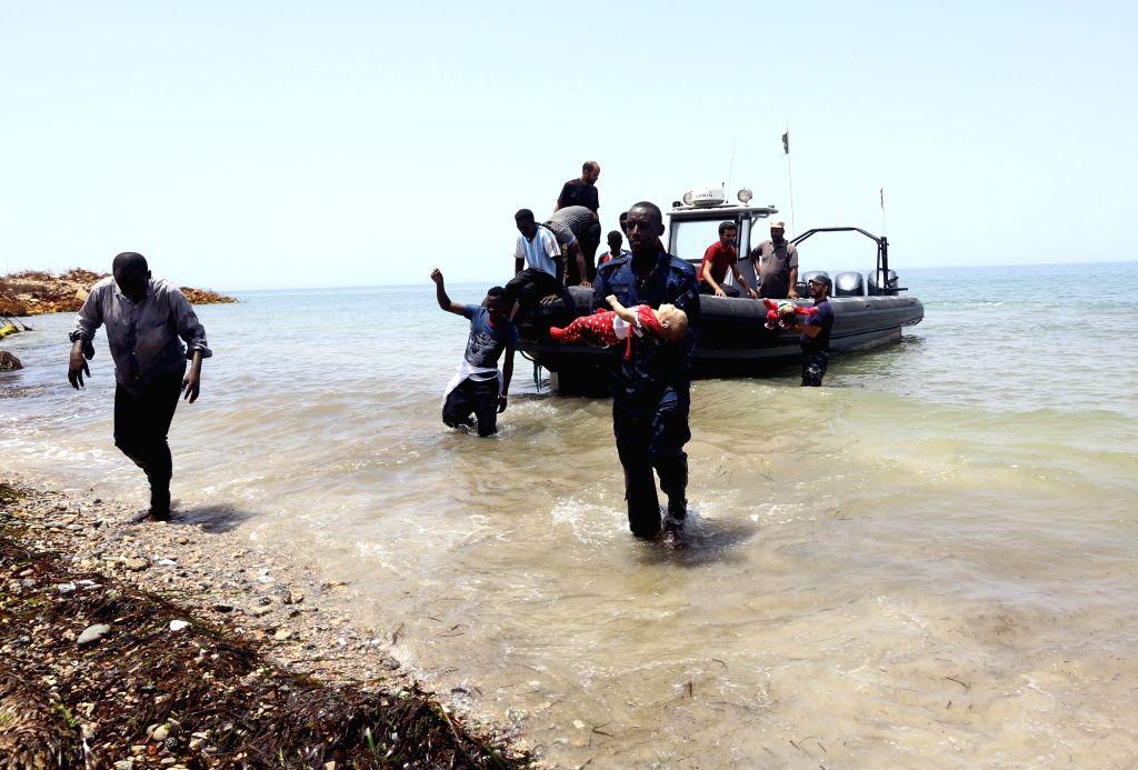 Libyan Coast Guard rescues 128 illegal immigrants