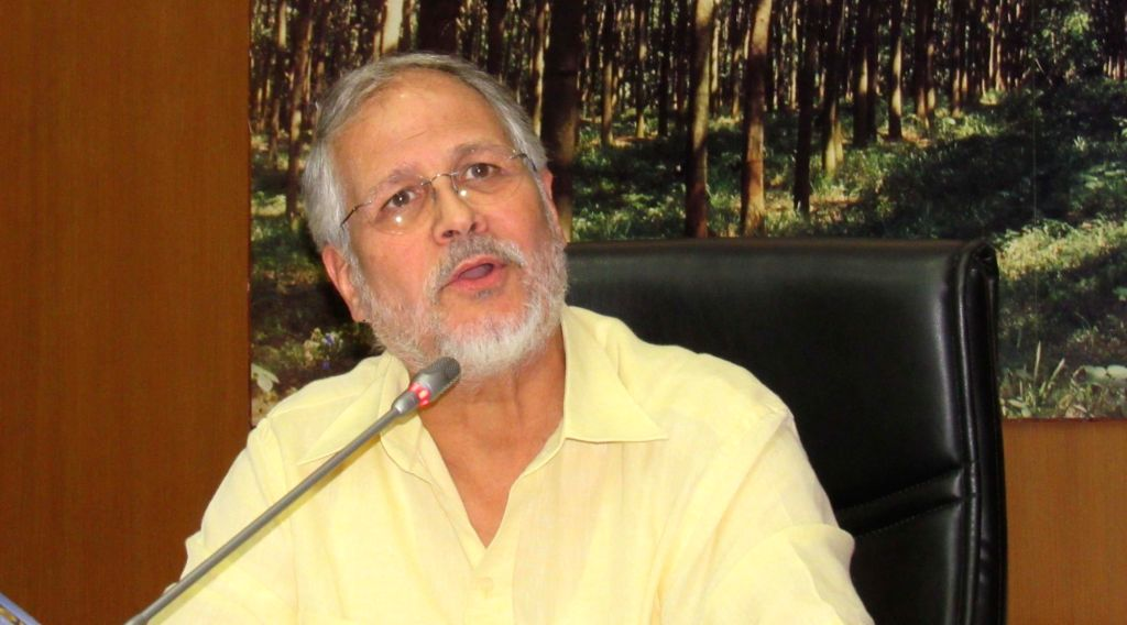Lieutenant Governor Najeeb Jung addresses a press conference in New Delhi on Aug 4, 2016.