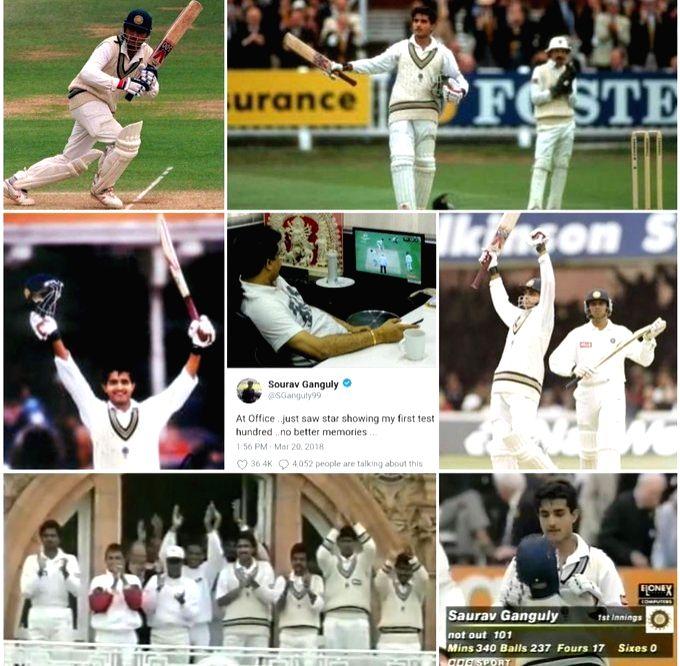 Life's best moment: Sourav Ganguly recalls his Test debut. - Sourav Ganguly