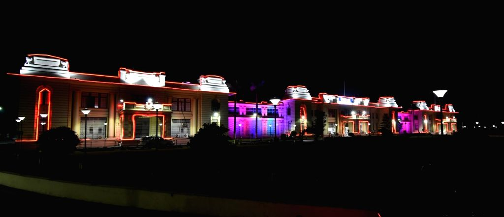 Light show celebration during the Bihar assembly building completes 100 years in Patna, on Feb 07, 2020.