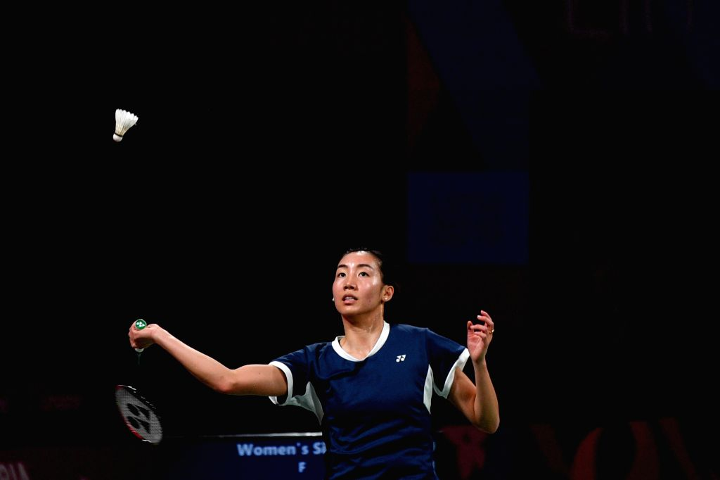 LIMA, Aug. 3, 2019 - Michelle Li of Canada competes during the women's singles final against her teammate Rachel Honderich at Pan American Games 2019 in Lima, Peru on August 2, 2019. Michelle Li won ...