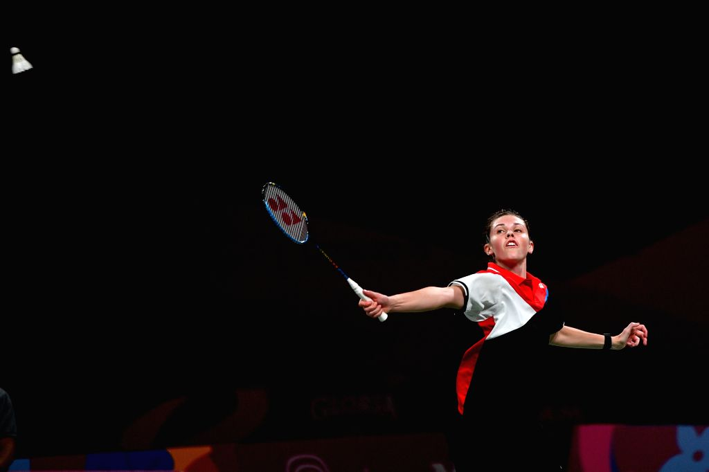 LIMA, Aug. 3, 2019 - Rachel Honderich of Canada competes during the women's singles final against her teammate Michelle Li at Pan American Games 2019 in Lima, Peru on August 2, 2019.