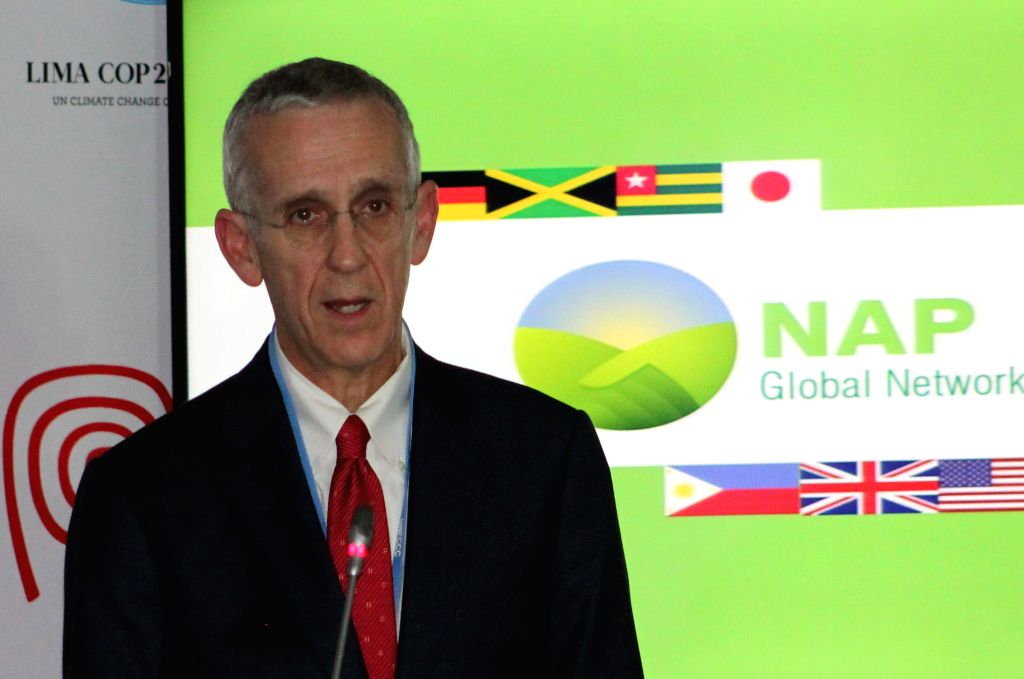 The United States special envoy for Climate Change, Todd Stern, attends a press conference, on the sidelines of the 20th U.N. Conference on Climate Change (COP20), in Lima, capital of Peru, on .
