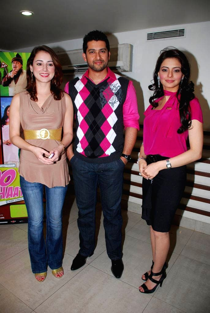 Linda Arsenio, Aftab Shivdasani and Aamna Shariff talks about their film 'Aloo Chaat' at Blue Waters in Mumbai.