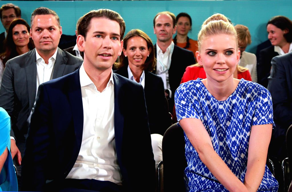 LINZ, July 2, 2017 - Austrian Foreign Minister Sebastian Kurz (L) attends the national congress of the People's Party in Linz, Austria, July 1, 2017. Thirty-year-old Sebastian Kurz was elected as the ... - Sebastian Kurz