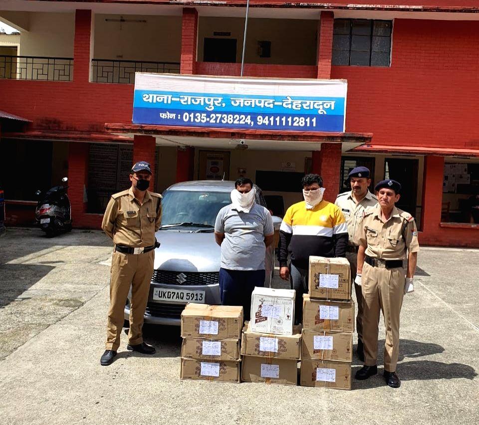 Liquor supply during lockdown in Dehradun.