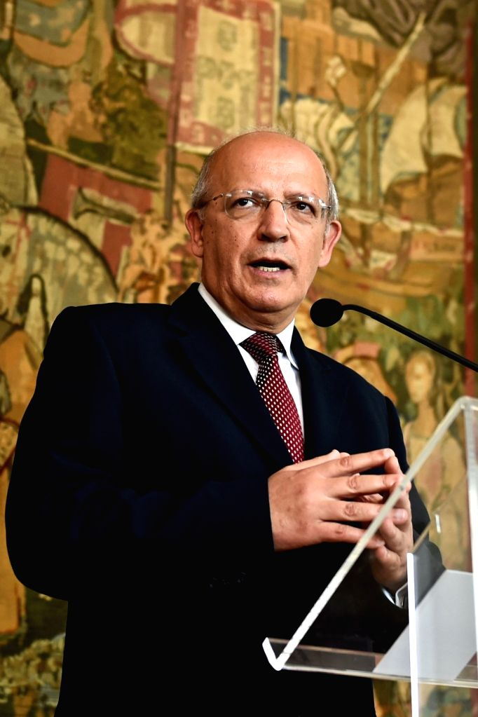 LISBON, July 27, 2016 - Portugal's Minister of Foreign Affairs August Santos Silva speaks during a press conference at the Necessidades Palace in Lisbon, Portugal, July 27, 2016. The Portuguese ...