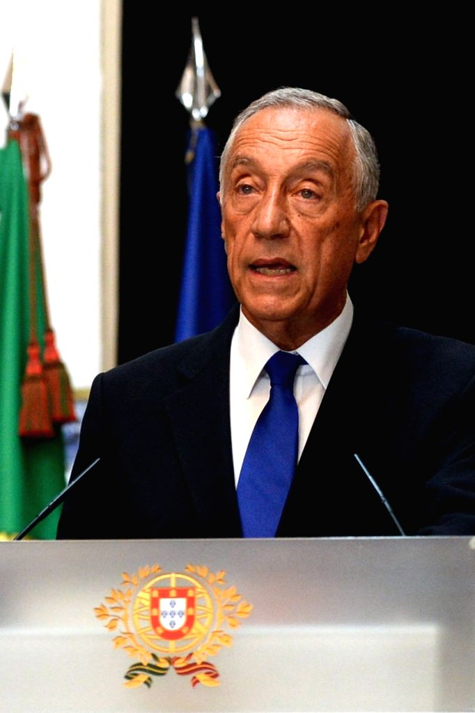 LISBON, July 27, 2016 - Portuguese President Marcelo Rebelo de Sousa delivers a speech at the Palace of Belem in Lisbon, Portugal, July 27, 2016. The Portuguese government on Wednesday endorsed ...