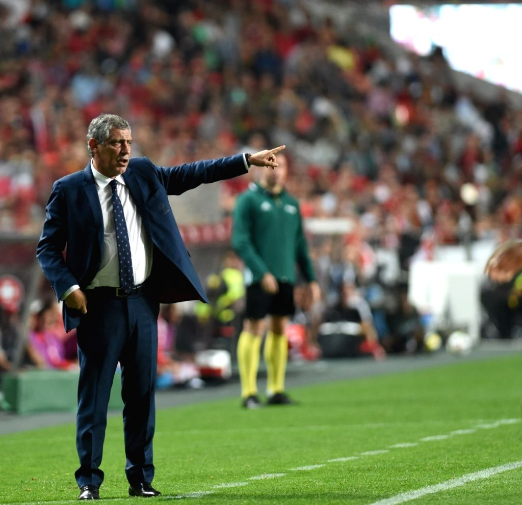 LISBON, Oct. 11, 2017 - Coach of Portugal Fernando Santos reacts during the FIFA World Cup 2018 Qualifiers Group B match between Portugal and Switzerland at the Luz stadium in Lisbon, Portugal, on ...