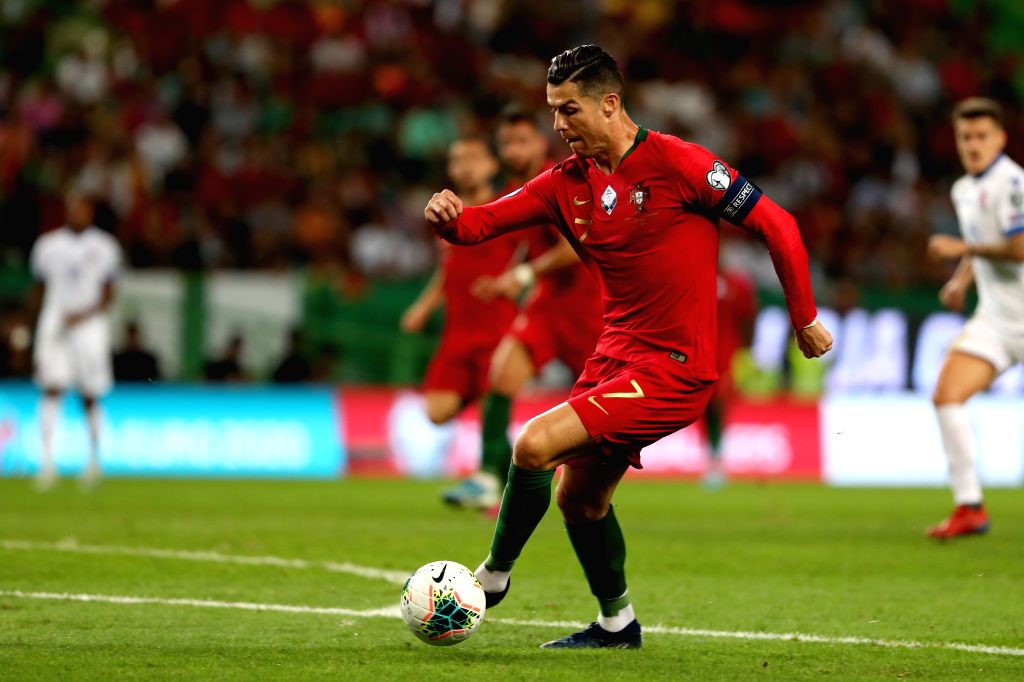 LISBON, Oct. 12, 2019 - Cristiano Ronaldo of Portugal competes during the UEFA Euro 2020 qualifying round Group B match between Portugal and Luxembourg in Lisbon, Portugal on October 11, 2019.