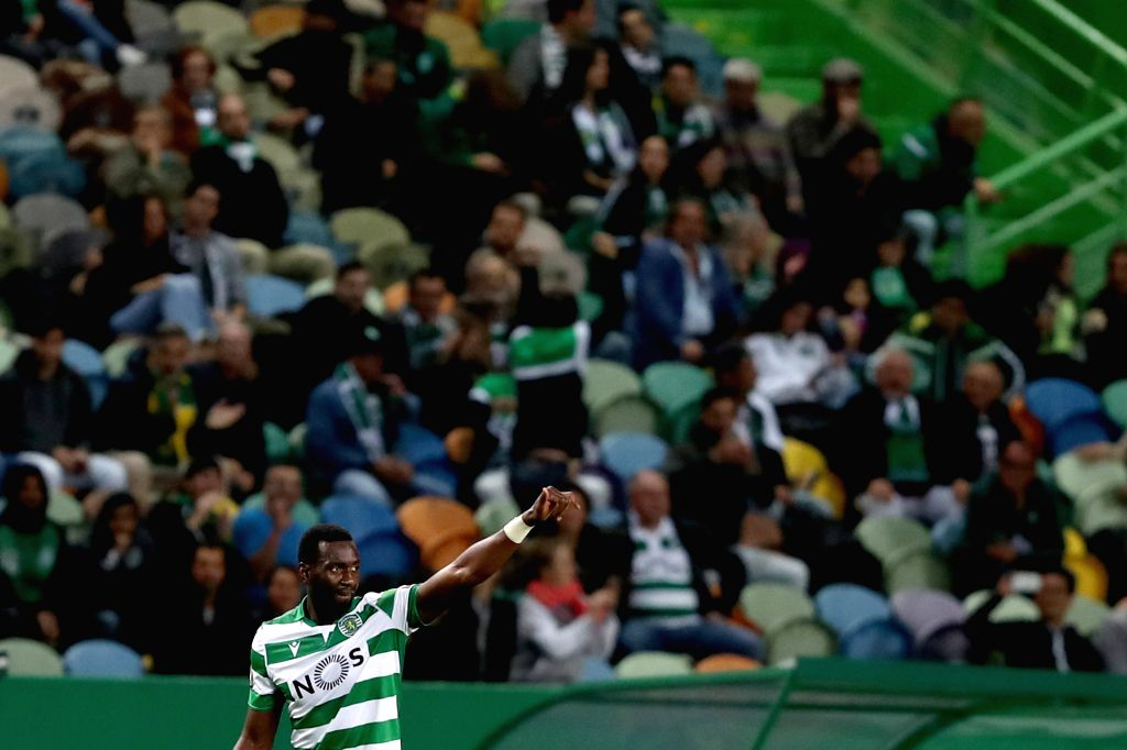 LISBON, Oct. 25, 2019 - Yannick Bolasie of Sporting CP celebrates after scoring a goal during a UEFA Europa League Group D football match between Sporting CP and Rosenborg BK in Lisbon, Portugal on ...