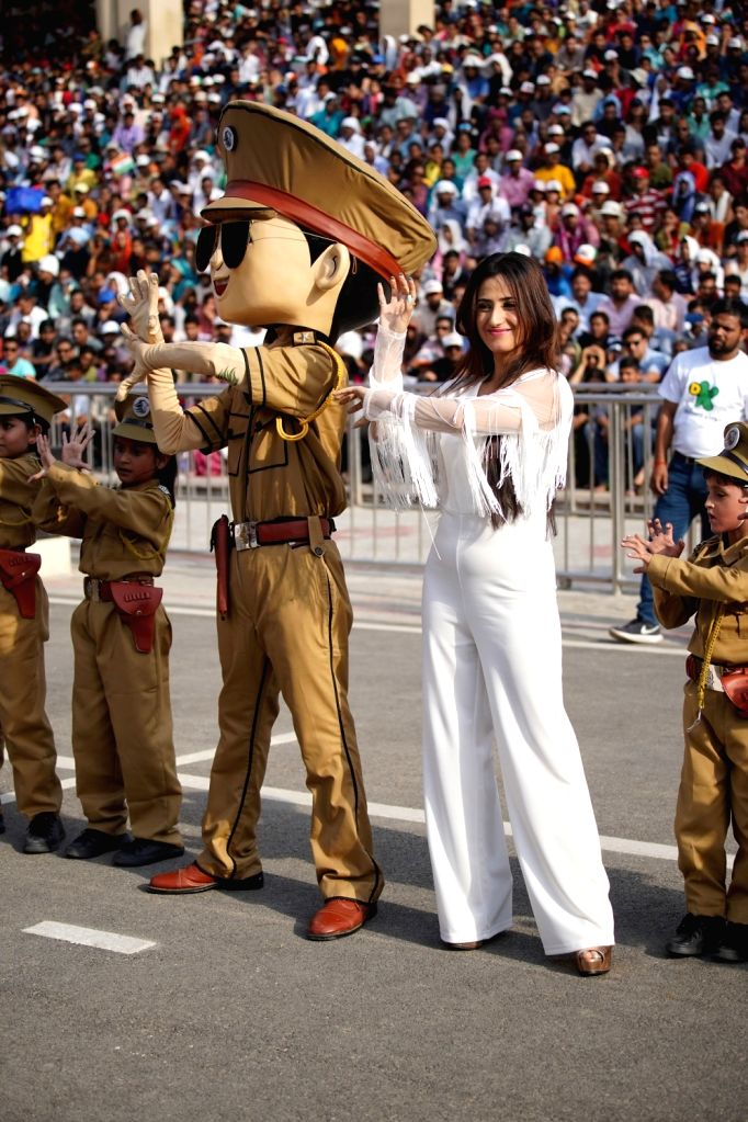 """Little Singham"" gives a musical tribute to BSF Troopers at the joint check post Attari-Wagah border."