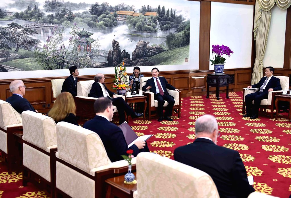 Liu Qibao (2nd R, rear), a member of the Political Bureau of the Communist Party of China (CPC) Central Committee and head of the Publicity Department of the CPC ...
