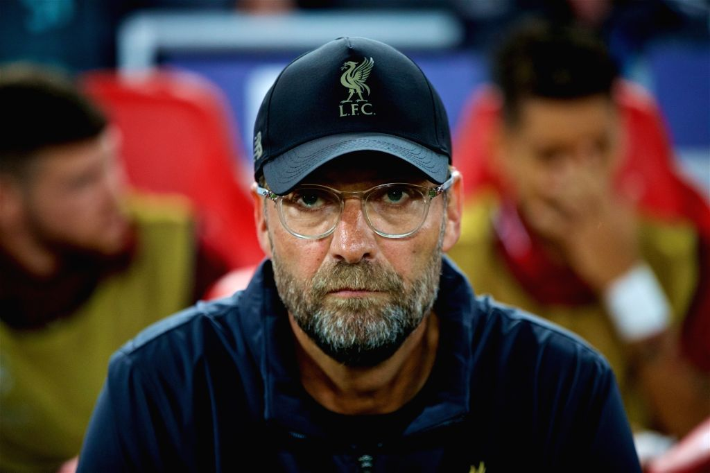LIVERPOOL, Sept. 19, 2018 - Liverpool's manager Jurgen Klopp is seen before the UEFA Champions League Group C match between Liverpool and Paris Saint-Germain at Anfield Stadium in Liverpool, Britain ...
