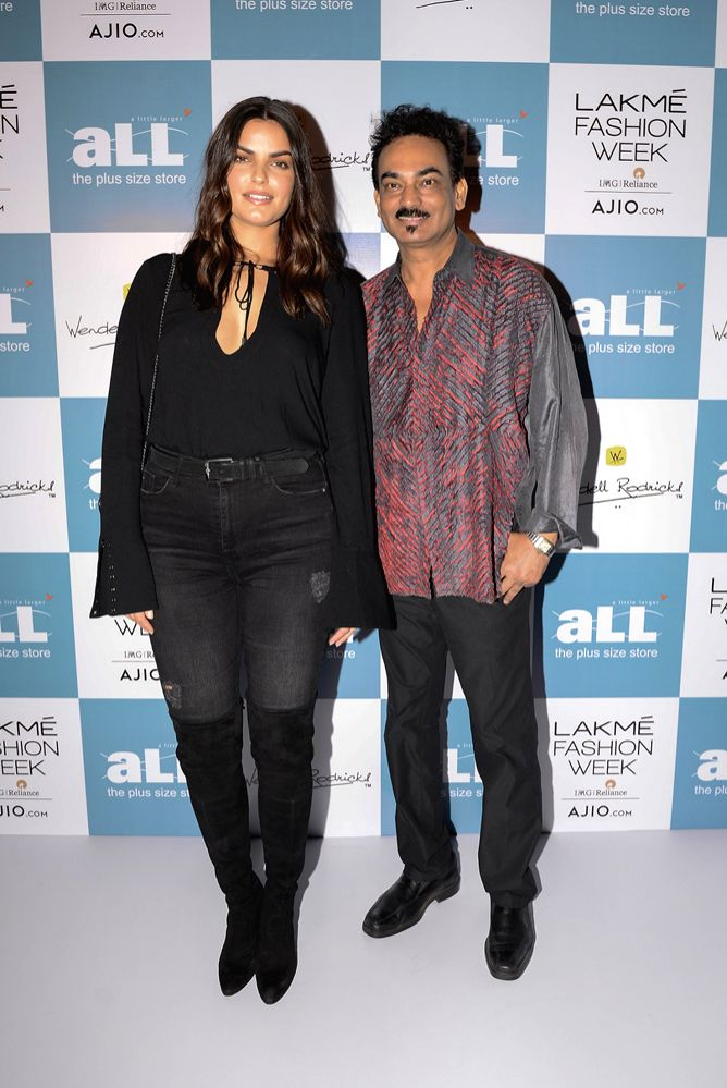 Liza Golden-Bhojwani and Wendell Rodricks at Lakm? Fashion Week WF 17 and aLL's Plus Size Model Auditions - Auditions