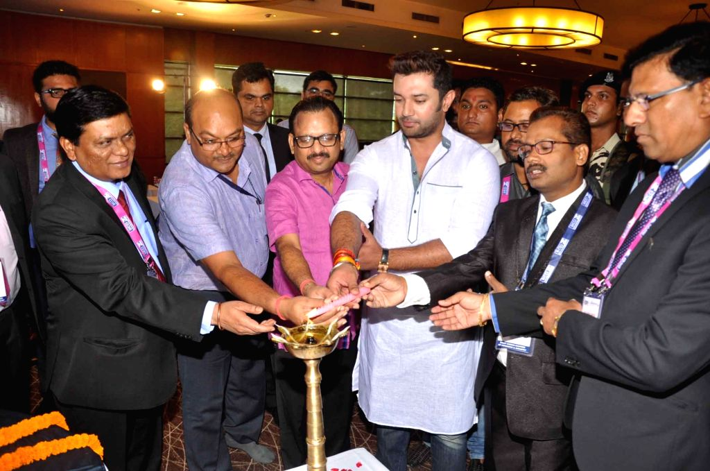 LJP MP Chirag Paswan during a Dalit programme in Patna on Sept 10, 2016.