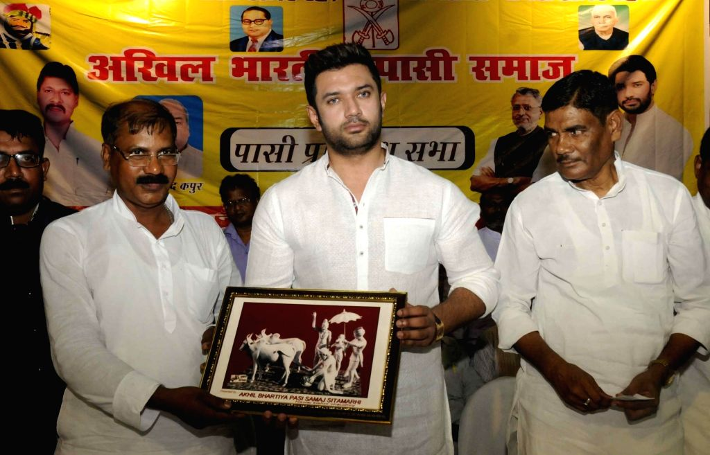 LJP MP Chirag Paswan during a programme in Patna on July 2, 2016.