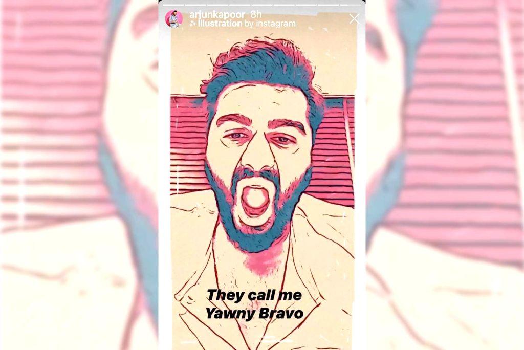 Lockdown diaries: Arjun Kapoor in and as 'Yawny Bravo' in new video. - Arjun Kapoor