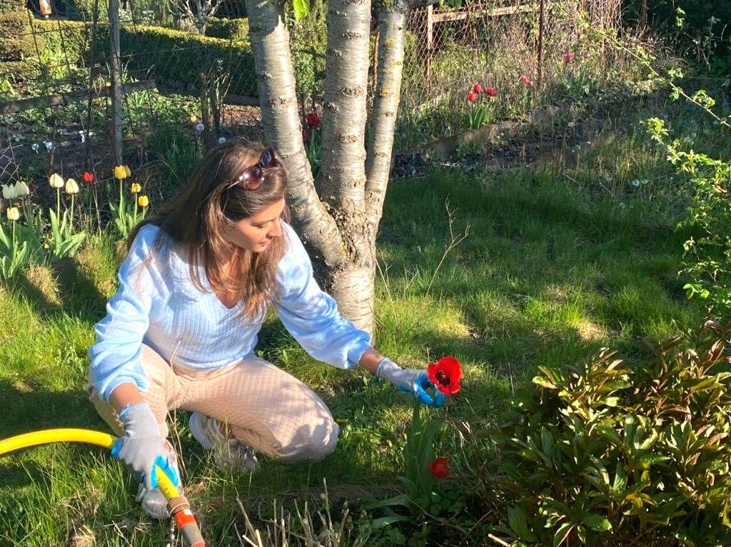 Lockdown diaries: Elnaaz Norouzi picks up new hobby in Germany.