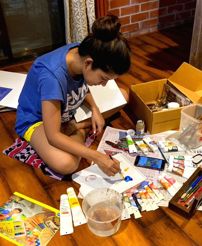 Lockdown diaries: Ishita Dutta gets creative.
