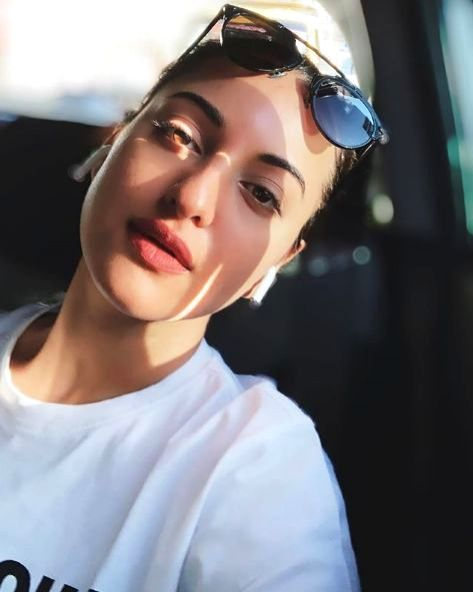 Lockdown diaries: Sonakshi Sinha sat in her 'parked car'. - Sonakshi Sinha