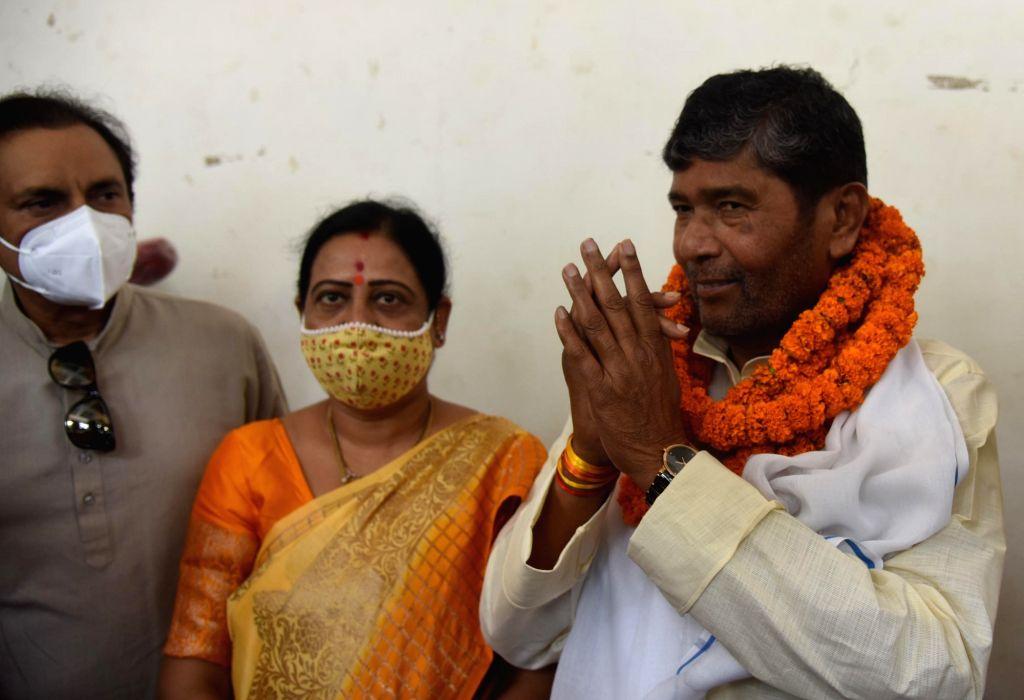 Lok Janshakti Party rebel leader Pashupati Kumar Paras filing his nomination paper for party National president in Patna, on Thursday  17 June 2021. - Pashupati Kumar Paras