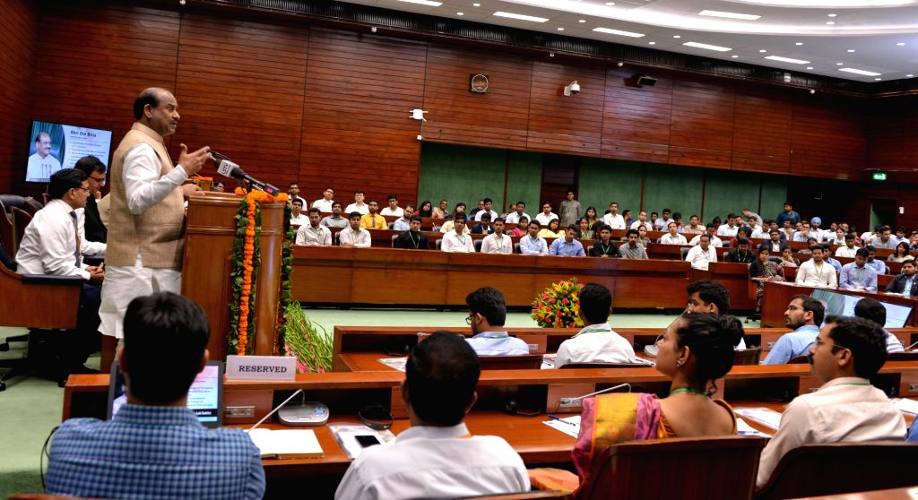 Lok Sabha Speaker Om Birla addresses 2017 batch IAS Officers at Parliament Annexe in New Delhi, on July 17, 2019. - O