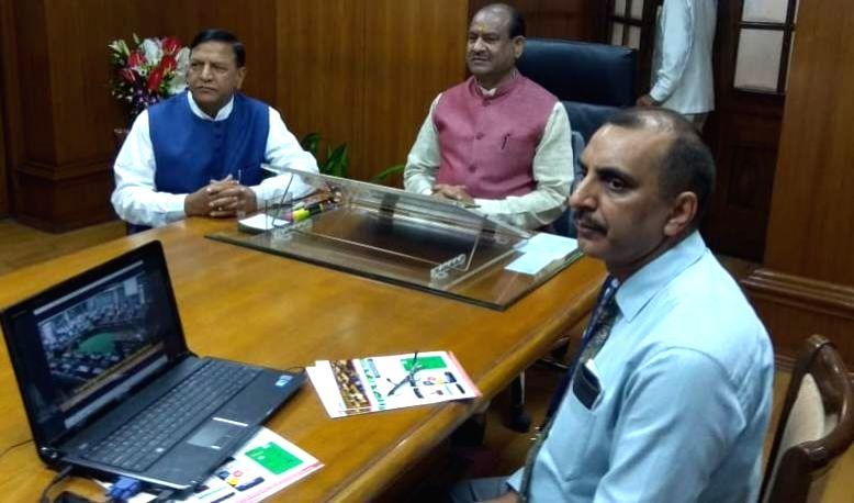 Lok Sabha Speaker Om Birla chairs National Conference of Speakers in Shimla, on Aug 28, 2019. - O