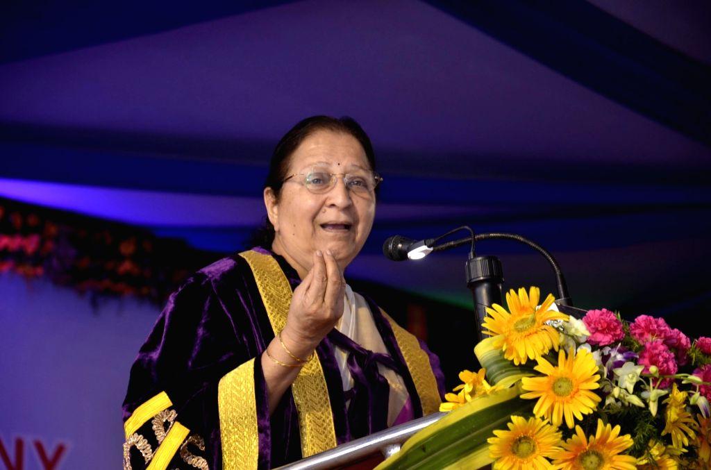 Lok Sabha Speaker Sumitra Mahajan addresses during convocation ceremony of Ranchi University on July 5, 2016. - Sumitra Mahajan