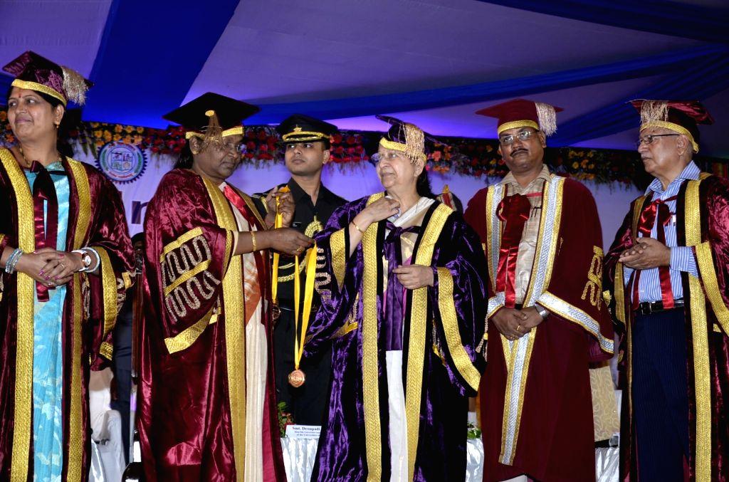 Lok Sabha Speaker Sumitra Mahajan during convocation ceremony of Ranchi University on July 5, 2016. - Sumitra Mahajan