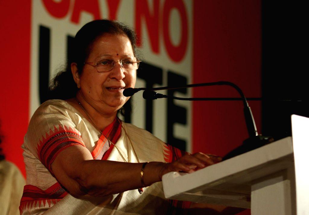 Lok Sabha Speaker Sumitra Mahajan during an UN Women programme organised to launch 16 Days of Activism to End Violence Against Women at India Gate in New Delhi on Nov 25, 2015. - Sumitra Mahajan